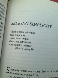 Tao Te Ching Seeking Simplicity #quote #simpleliving #minimalism