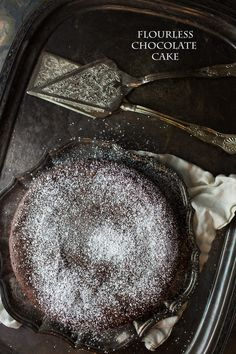 The easiest Flourless Chocolate Cake - rich and decadent!