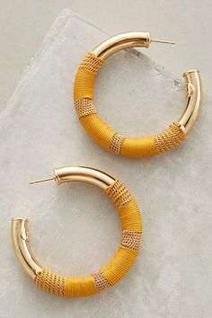 Porto Suede Hoops - anthropologie.com