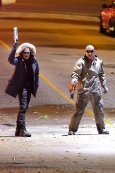 Wentworth Miller Leonard Snart Captain Cold  |   Dominic Purcell Mick Rory Heat Wave  |   BTS  |  The Flash