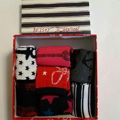 Betsey Johnson Socks NWT. 7 Pair Box of Socks. Crew Style. 90% poly and 10% Acrylic Betsey Johnson Accessories Hosiery & Socks