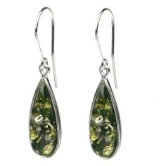Sterling Silver Green Amber Drop Earrings Amazon Curated Collection. $63.00. Gemstones may have been treated to improve their appearance or durability and may require special care.. The natural properties and composition of mined gemstones define the unique beauty of each piece. The image may show slight differences to the actual stone in color and texture. May be washed with warm, soapy water.