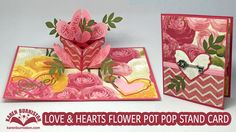 Karen teaches how to make a love-themed pop-up card featuring two dies from the Pop it Ups line: Flower Pot Pop Stand and Heart Pivot Card. Blog Post: http:/...