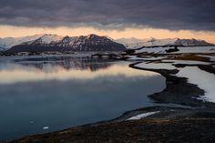 Sunset at Jökulsárlón by Dioneanu.