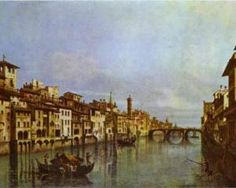 The river Arno in Florence - Bernardo Bellotto, c.1742