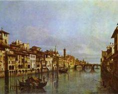 The river Arno in Florence - Bernardo Bellotto, c.1742
