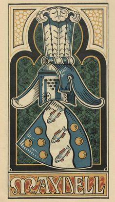 von Maydell / Maidell -- Baltischer Wappen-Calendar 1902 - illustrations by M. Kortmann.