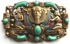 Neiger at his best!  Egyptian Revival brooch 1923.  Photograph Gillian Horsup.