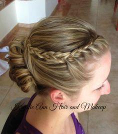 Hair: www.krystieann.com  wedding hair, bridal hair, updo, braid, bridesmaid hair, wedding hair style, punta cana wedding, beach wedding hair, majestic colonial, majestic resorts, prom hair