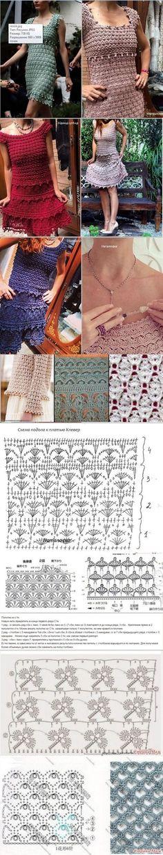 Dress Fashion China of Dress Fashion Pic Vanessa Montoro, Crochet Woman, Love Crochet, Crochet Lace, Crochet Summer, Crochet Diagram, Crochet Chart, Crochet Skirts, Crochet Clothes