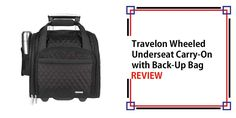 Travelon Wheeled Underseat Carry-On with Back-Up Bag Review