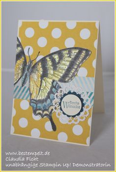 Stampin Up! Swallowtail Card