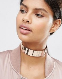 Browse online for the newest ASOS Wide Metal Choker Necklace styles. Shop easier with ASOS' multiple payments and return options (Ts&Cs apply). Metal Choker, Silver Choker Necklace, Crystal Choker, Metal Necklaces, Collar Necklace, Metal Jewelry, Asos, Layered Bracelets, Stud Earrings
