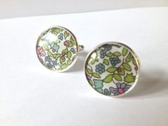 Cuff Links  Silver Plated With Liberty of London by indigostitch, £7.00