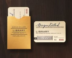 Library card design.