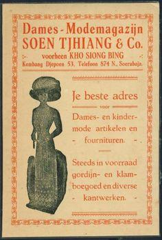 Iklan kuno jaman Belanda, Rumah Mode di jl. Kembang Djepoen, Soerabaja.