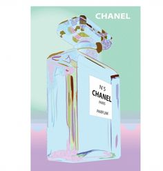 Chanel Bottle Blue Pink - hardtofind.