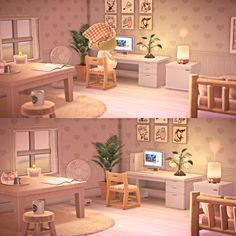Updated my bedroom interior a little🤍 It's so therapeutic moving furniture around~ - AnimalCrossing Animal Crossing Wild World, Animal Crossing Guide, Animal Crossing Villagers, Animal Crossing Pocket Camp, Ac New Leaf, Happy Home Designer, Moving Furniture, Island Design, House Design
