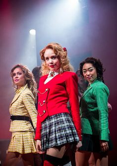 Photo 16 of 21 | Elle McLemore as Heather McNamara, Jessica Keenan Wynn as Heather Chandler, Alice Lee as Heather Duke in Heathers: The Musical | Heathers: Show Photos | Broadway.com