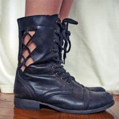 Revamp your old boots with this super easy DIY.It would also be cool to place gears on the boots to give it a steampunk look.