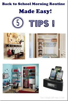 Back to School Morning Routine Made Easy - 5 Tips www.settingforfour.com