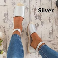 Load image into Gallery viewer, Women Summer Style Sandals PU Flat Espadrilles Sandals Flat Espadrille Sandals, Espadrilles, Boho Sandals, Ankle Strap Sandals, Summer Sandals, Ankle Straps, Closed Toe Sandals, Leather Sandals Flat, Fashion Flats