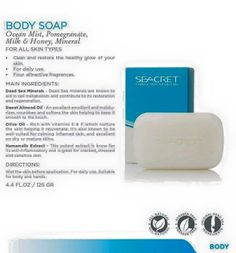 SEACRET Mineral soap enriched with minerals from the Dead Sea to clean and restore the healthy glow of your skin.   www.Seacretdirect.com/lupen https://www.facebook.com/Seacretdirect.lupen