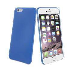 Funda Minigel para iPhone 6 Plus Muvit Ultrafina 0,35mm Classic Blue (Azul Oscuro)