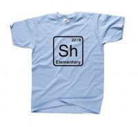 Koszulka z nadrukiem SH elementary SHERLOCK