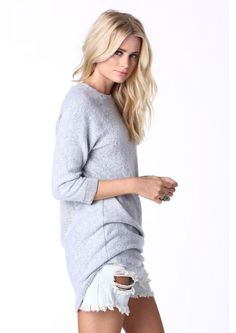 Snow Bunny Tunic Dress in Heather grey | Necessary Clothing