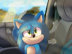 Road trip (sonic the hedgehog movie) by Astiell-Aleks on DeviantArt Sonic The Hedgehog, Hedgehog Movie, Hedgehog Art, Shadow The Hedgehog, Sonic Funny, Sonic 3, Sonic Fan Art, Sonic The Movie, Homemade Cat Toys