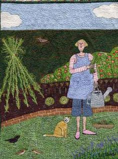 """""""picking beans for tea"""" embroidery"""