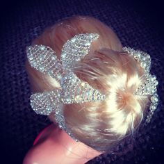 Swarovski crystal & pearl hair pieces by  piecesbyaideen.com