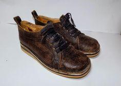 Χειροποίητο δερμάτινο δετό παπούτσι