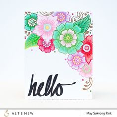LOVE this amazing card by May(@mayholicincrafts ).❤️ Check out our blog to see how she accomplished this vibrant look. Link in profile. #cardmaking #handmadecard #copicart #papercrafts #diycard #cas_only_cas #altenew #flowercard