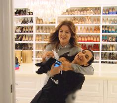 In the season 10 premiere of Keeping Up With the Kardashians, Kim and Khloe Kardashian get into a playful battle when Kim wants to clean out Khloe's closet -- watch a sneak peek!