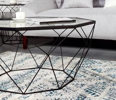 Nordic Iron size apartment living room coffee table glass round table, octagonal transparent on Aliexpress.com | Alibaba Group