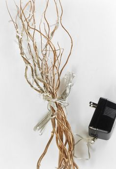 Branch Lights Gold Curly Willow with 25 Rice Lights Plug In (10 branches) $10.99 each / 6 for $10 each