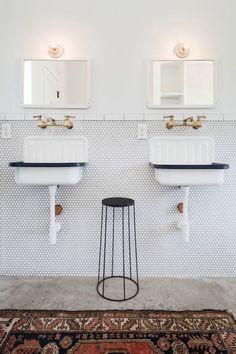 Mozaiek/rechte tegeltjes Sinks | Bathroom Inspiration
