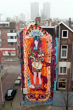 3d Street Art, Urban Street Art, Murals Street Art, Amazing Street Art, Street Art Graffiti, Mural Art, Street Artists, Amazing Art, Banksy