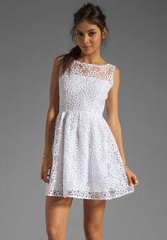 BB DAKOTA Huela Organza Embroidered Dress in Optic White at Revolve Clothing - Free Shipping!