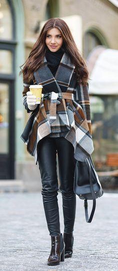 Rabato plaid coat @themysteriousgirl   chicwish.com