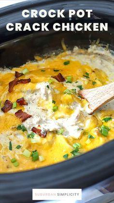 Crockpot Dishes, Crock Pot Cooking, Crock Pots, Crock Pot Rice, Crock Pit Meals, Simple Crockpot Chicken Recipes, Crock Pot Cheesy Potatoes, Good Crock Pot Recipes, Chicken Crock Pot Meals