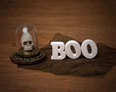 Miniature Halloween Wooden Letters for Your by DinkyWorld on Etsy