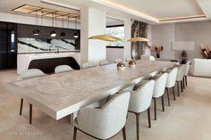 New stylish modern luxury villa in Zagaleta, Marbella in Marbella, Spain for sale (10522993) Beach Villa, Family Kitchen, Swimming Pool Designs, Modern Luxury, Luxury Villa, Luxury Real Estate, Living Area, New Homes, Dining Table