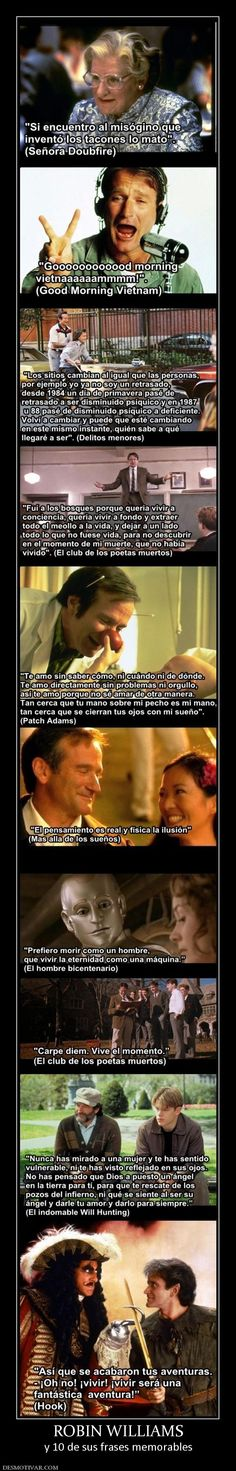 ROBIN WILLIAMS y 10 de sus frases memorables