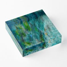 'Artistic Notion' Acrylic Block by Faye Anastasopoulou Decorative Throw Pillows, Decorative Items, Framed Prints, Canvas Prints, Art Prints, Home Office Accessories, Blue Office, Theme Pictures, Office Themes