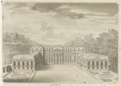 Print of the Château de Saint-Cloud,home of the Dukes of Orléans;C 1670.
