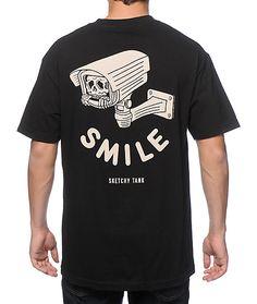 Sketchy Tank  Smile T-Shirt 23