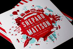 A real good-lookin design by Mattson Creative + breathtaking letterpress job done by Studio on Fire. I also loved how he showed us a preview of his process.